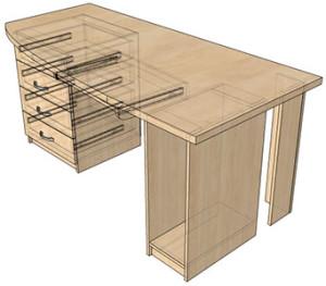 Сборка стола компьютерного