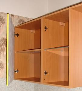 Как сделать навесной шкаф на кухню