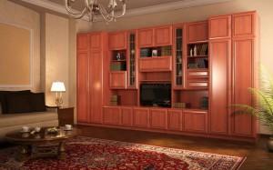 Сборка стенки каскад много мебели