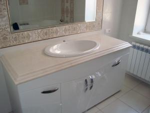 Искусственный камень столешницы для ванной